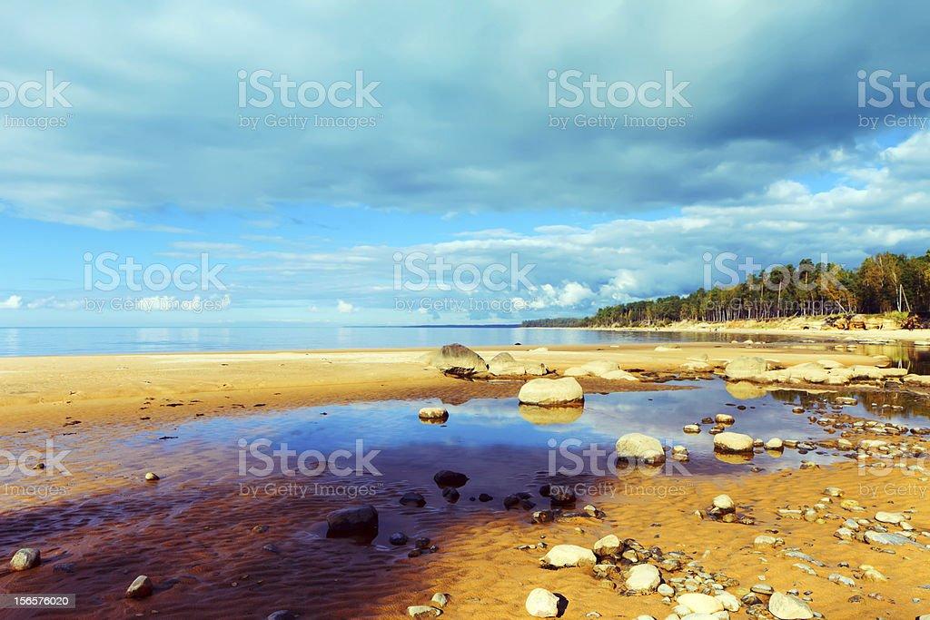 Rocky Beach and Coastline royalty-free stock photo