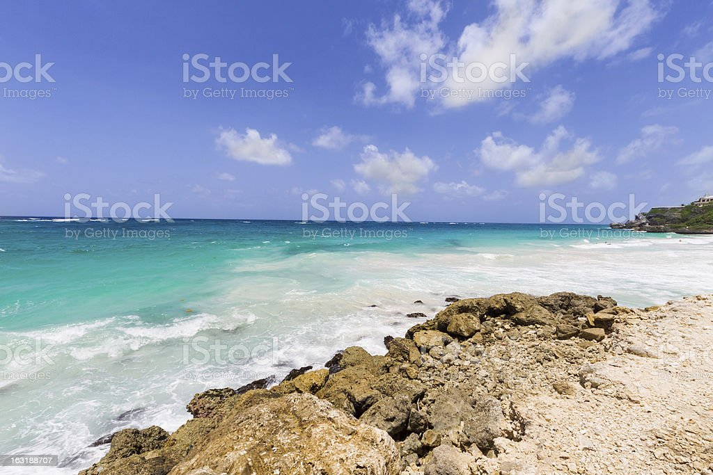 Rocky Beach in Barbados royalty-free stock photo