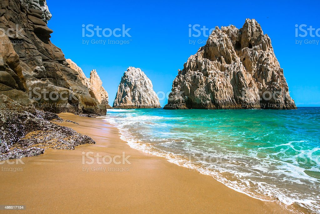 Rocky Beach in Cabo San Lucas stock photo