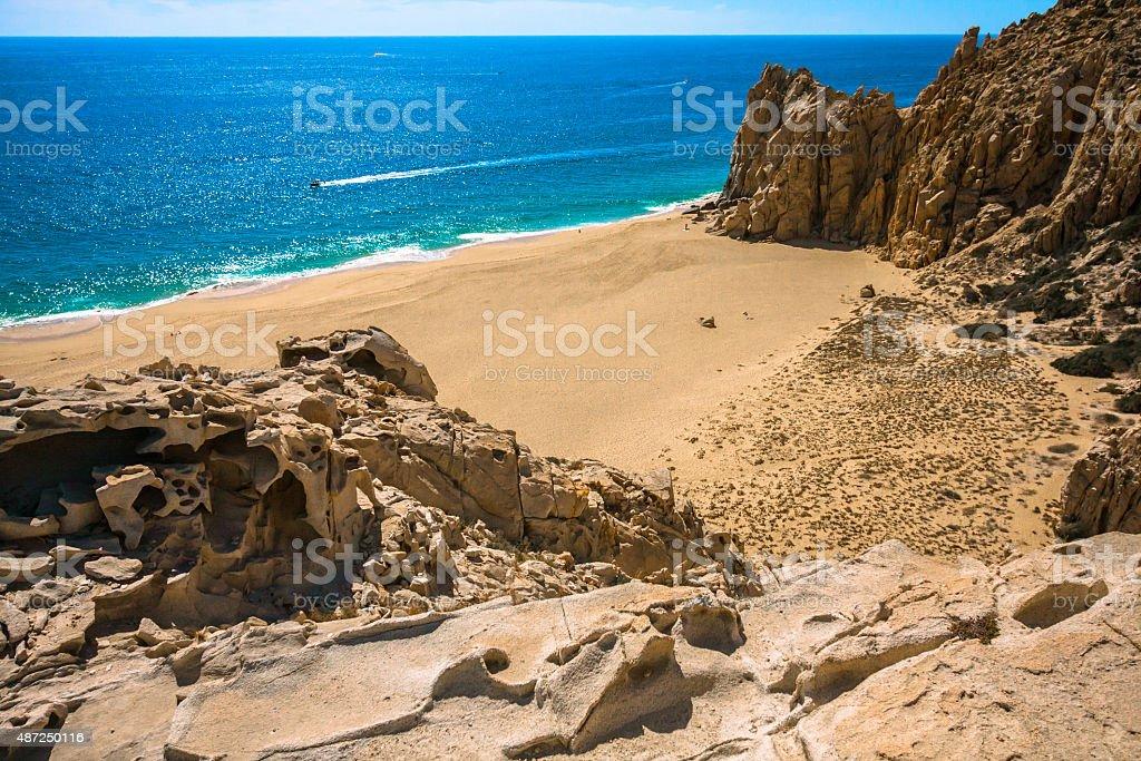 Rocky Beach in Cabo San Lucas stock photo