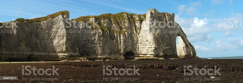Rocky Beach in Normandy, France royalty-free stock photo