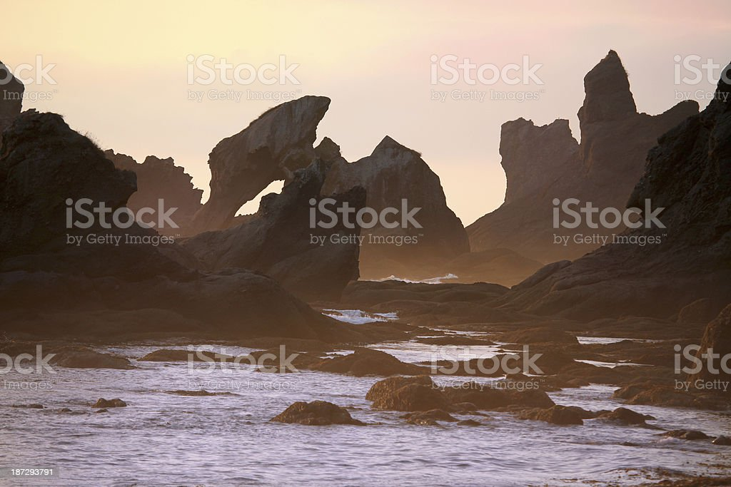 Rocky Beach in Washington Peninsula stock photo
