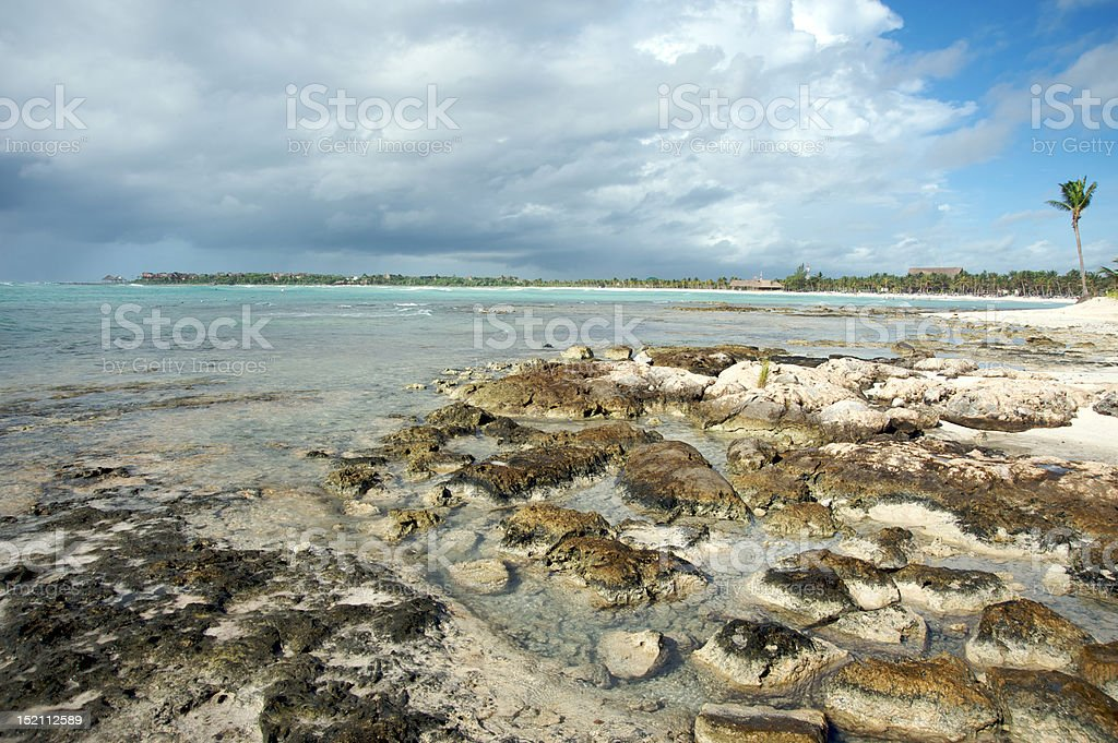 Rocky beach royalty-free stock photo