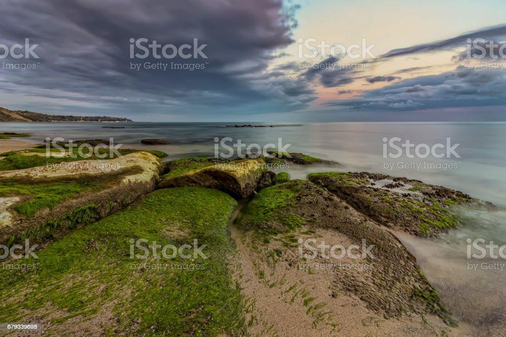 Rocky beach seascape stock photo