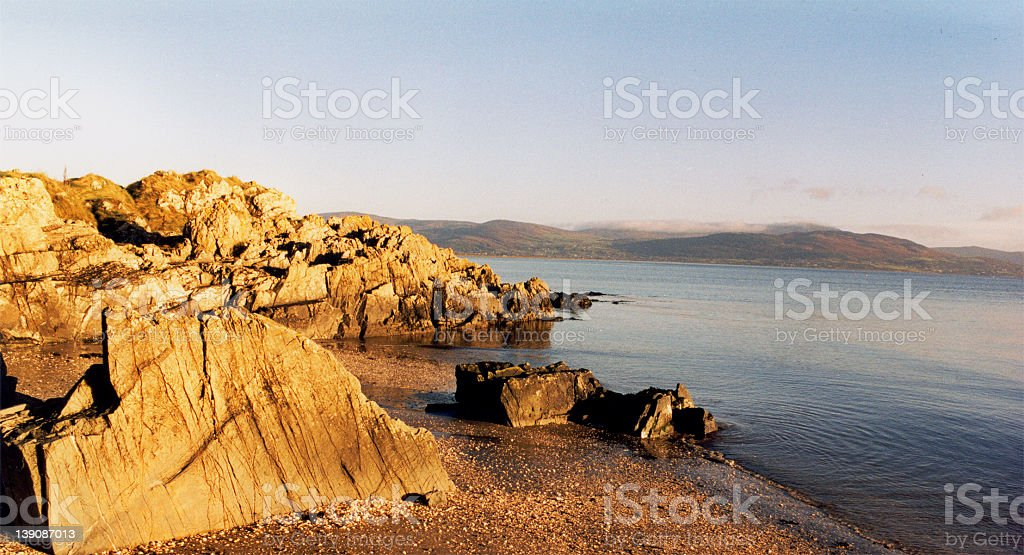Rocky Beach Sunrise stock photo