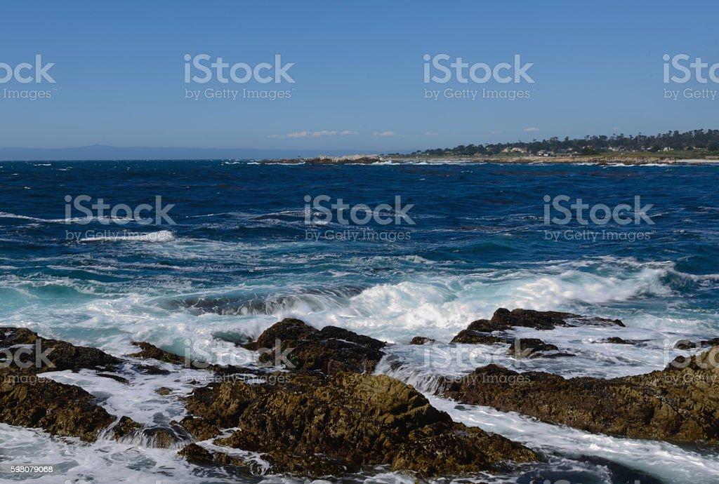 Rocky California Coast stock photo