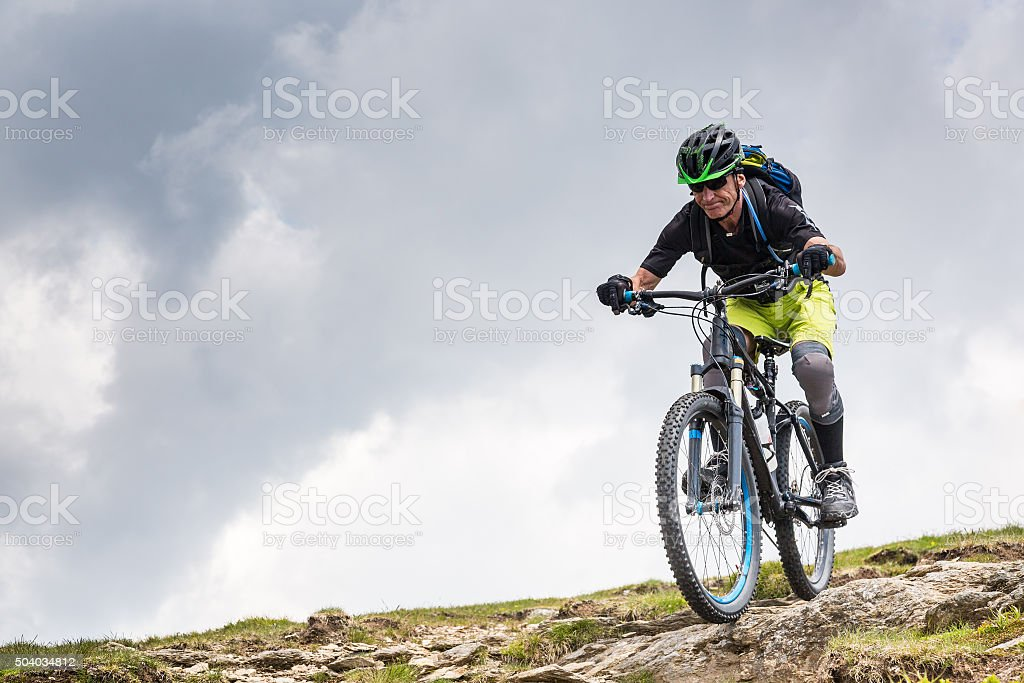 Rocky Carinthian Mountainbiking, Austria stock photo