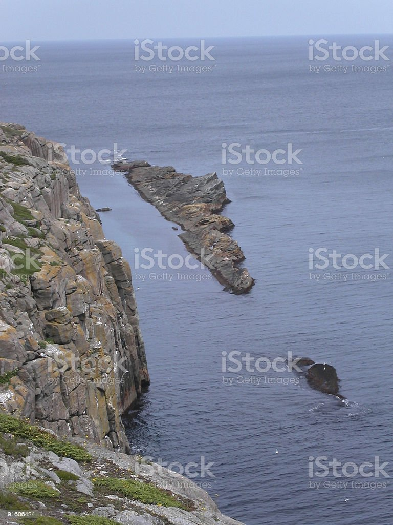 Rocky cliffs royalty-free stock photo