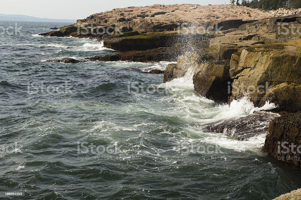 Rocky Coast and Waves royalty-free stock photo