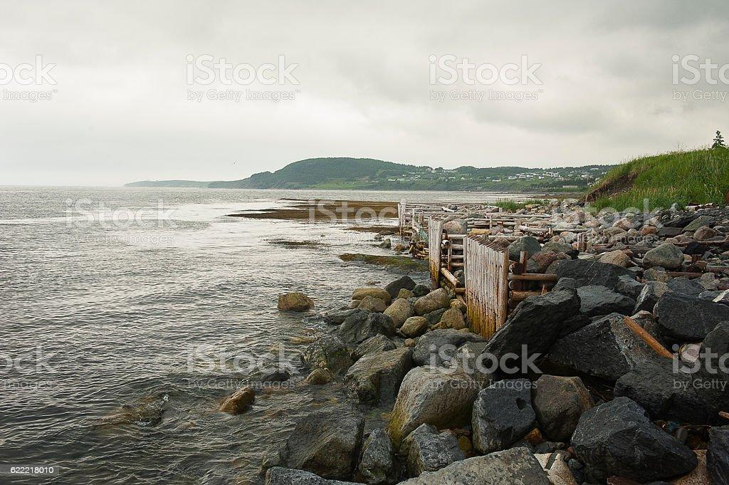 Rocky coast in Gros Morne, Newfoundland stock photo