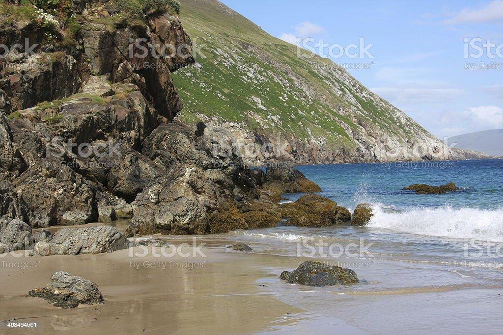 rocky coast in Ireland stock photo
