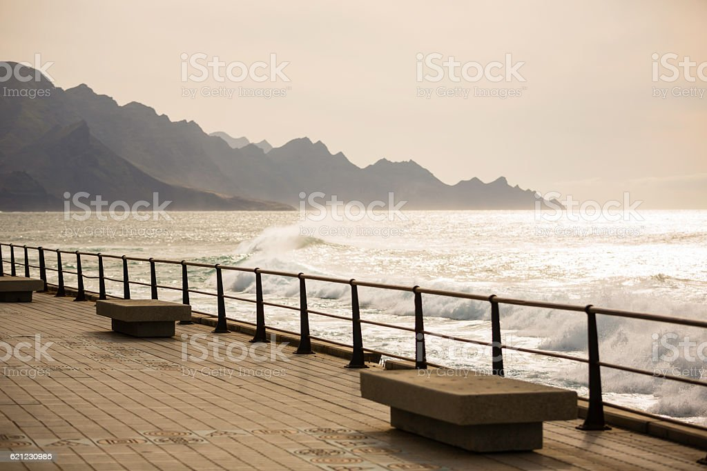 rocky coast of Gran Canaria stock photo