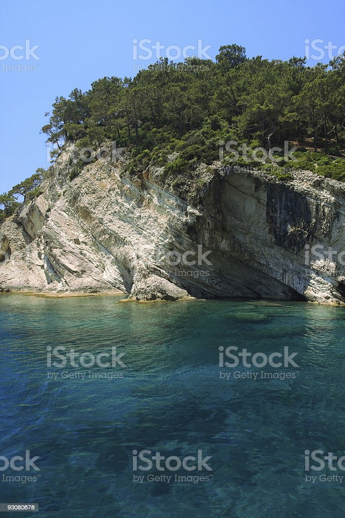 Rocky coast of Mediterranean stock photo