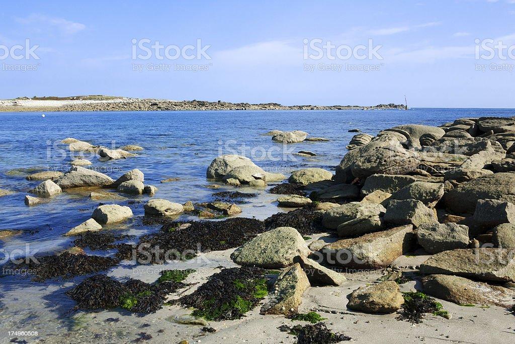 rocky coast royalty-free stock photo