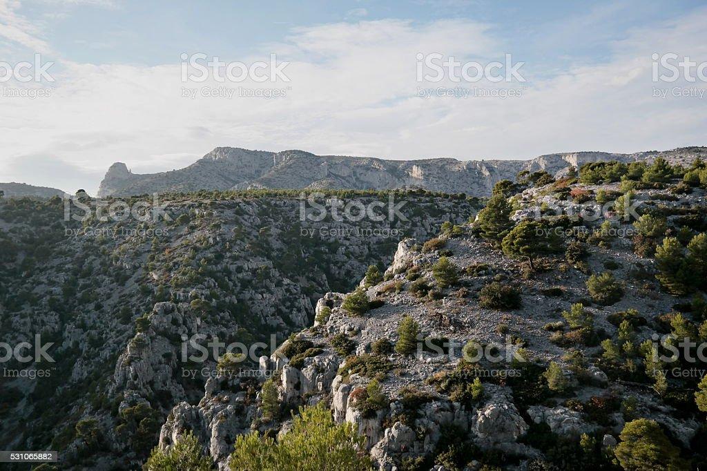 Felsigen Küstenlandschaft im Süden von Frankreich Lizenzfreies stock-foto