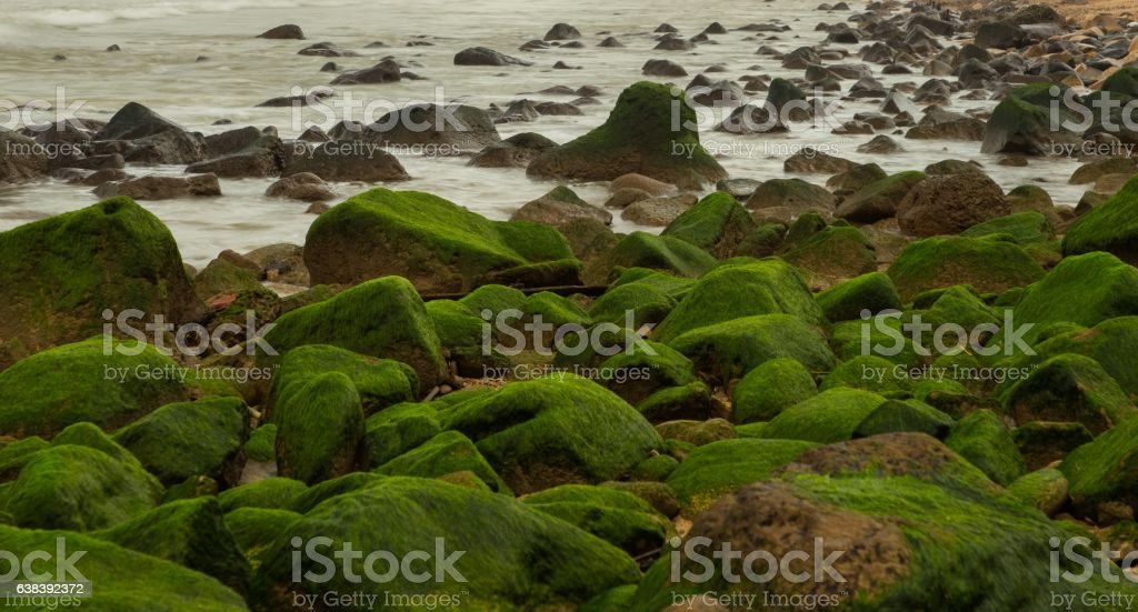 Rocky Coastal Outcrop Barrier stock photo