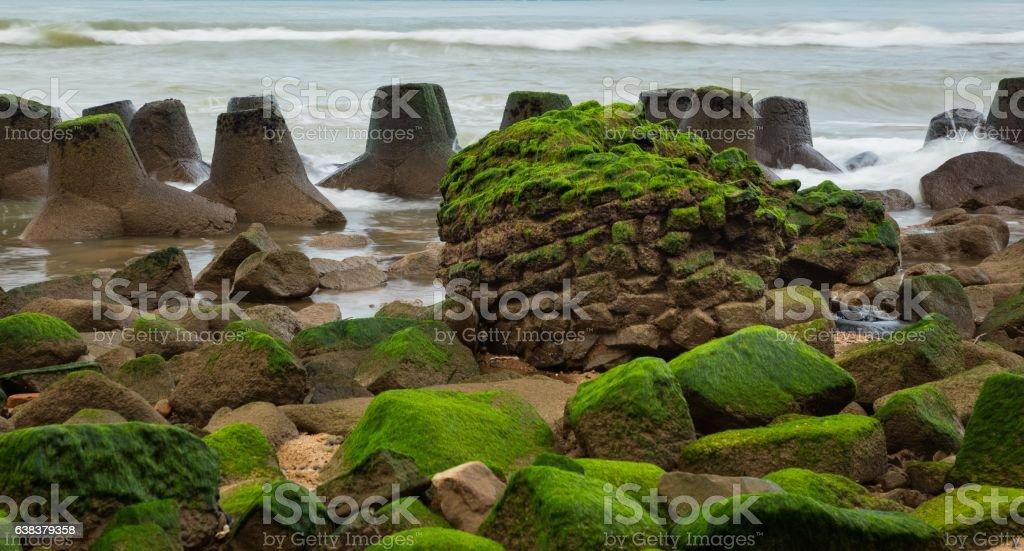 Rocky Coastal Outcrop stock photo