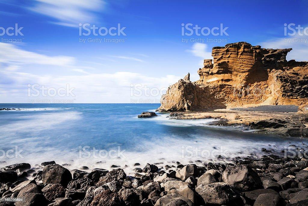 Rocky Coastline, Canary Island Seascape stock photo