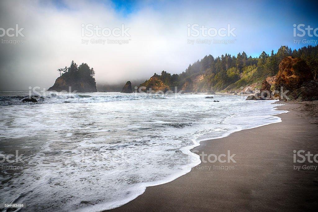 Rocky Coastline of Northern California stock photo