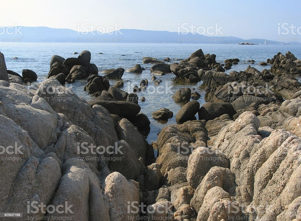 Rocky Coastline royalty-free stock photo