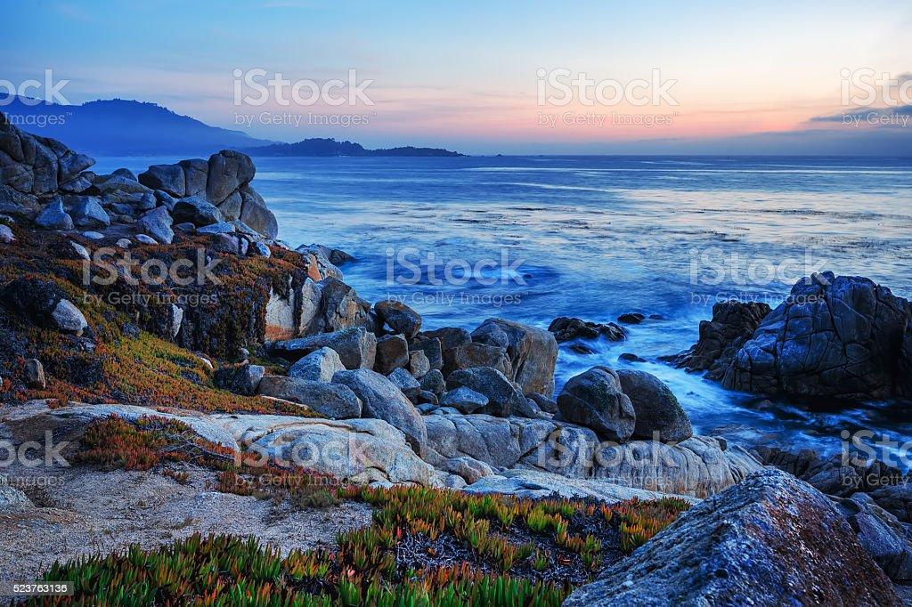 Rocky Coastline - Seal Rock, CA stock photo
