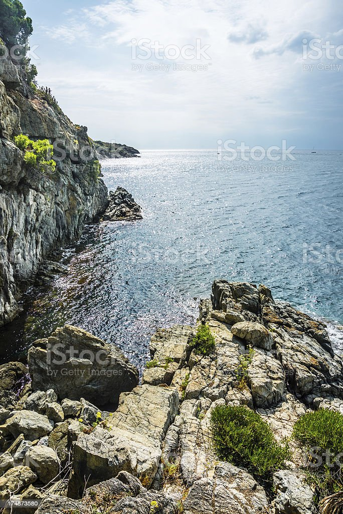 Rocky coastline, Spain royalty-free stock photo