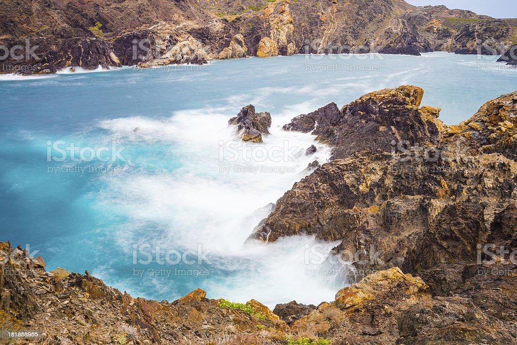 Rocky coastline, Spain royalty-free stock photo