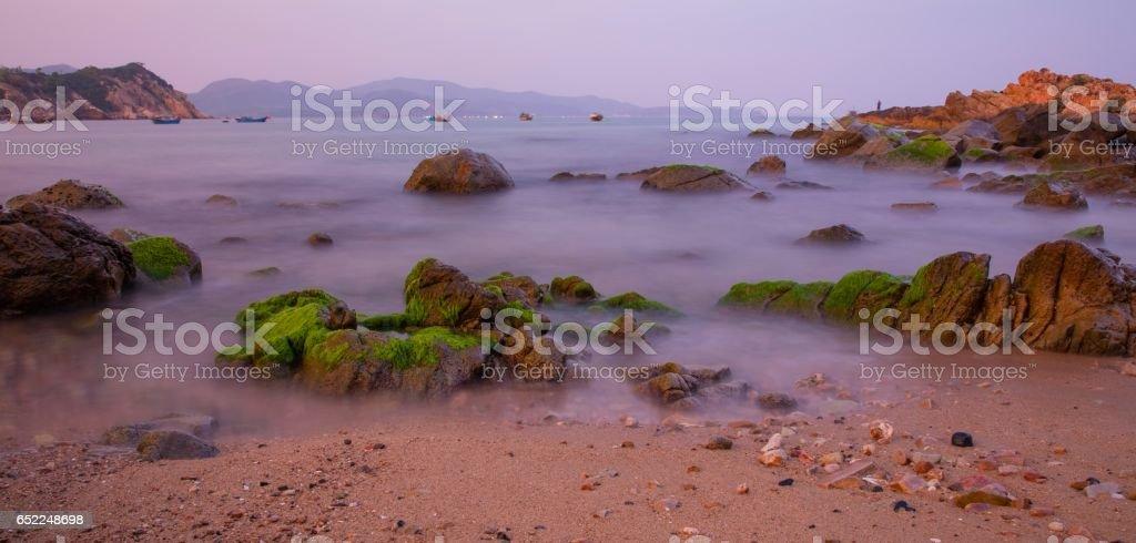 Rocky Coastline View stock photo