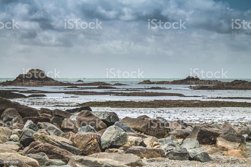 Rocky Cornwall Beach stock photo