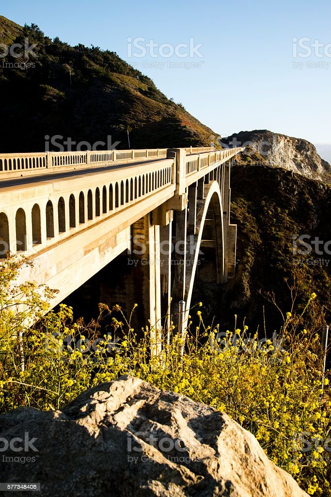 Rocky Creek Bridge stock photo