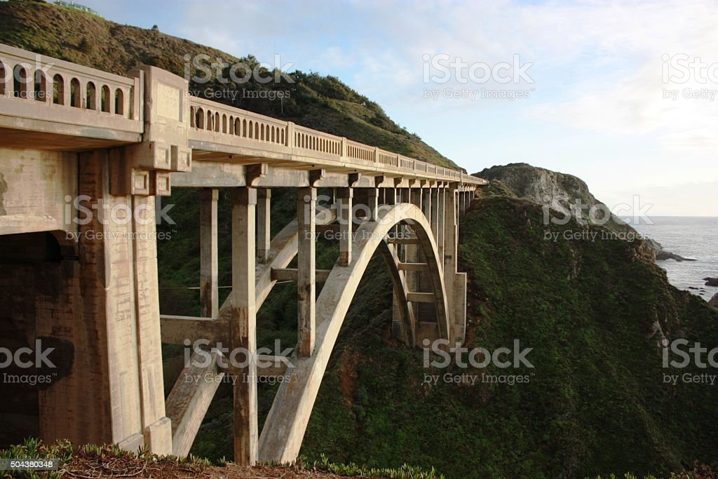 Rocky Creek Brigde in Big Sur California, USA stock photo