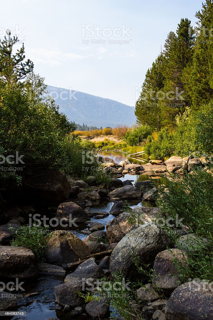 Rocky creek in Hope Valley CA stock photo
