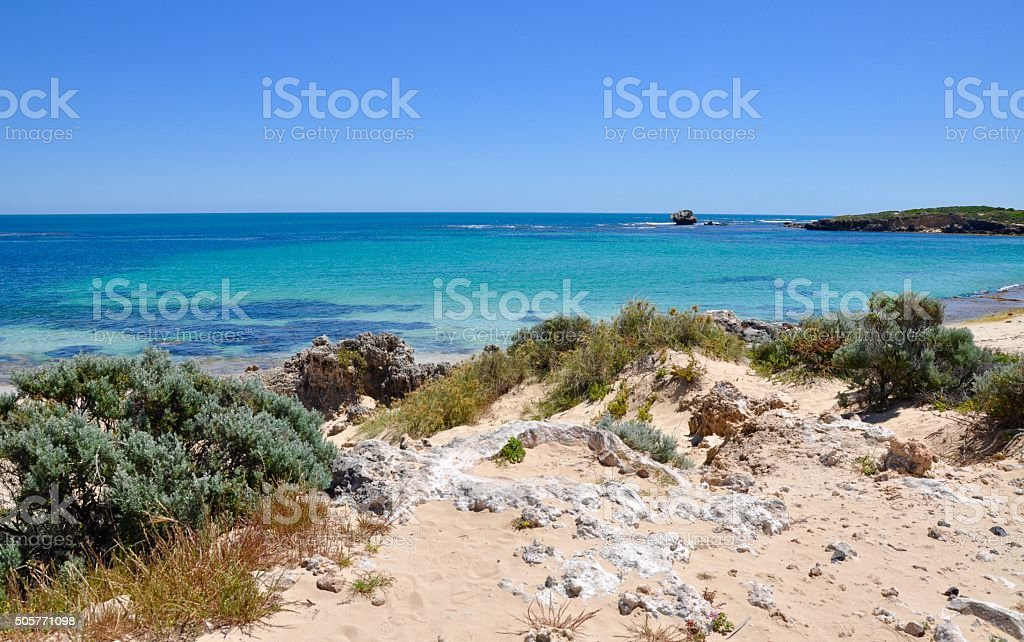 Rocky Dunes at Point Peron stock photo
