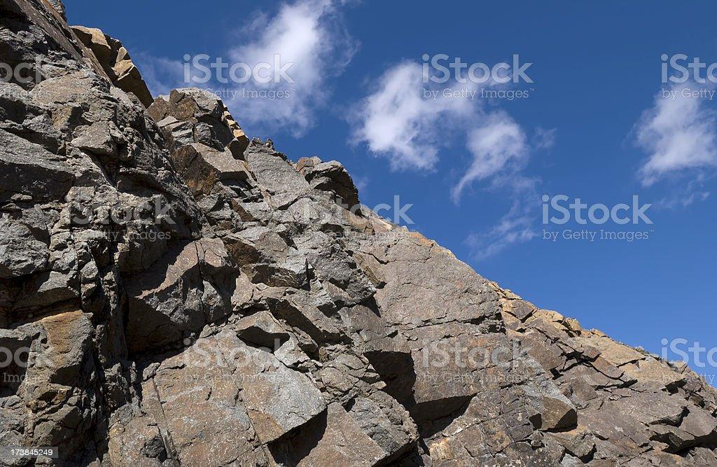 Rocky Franklin Mountains stock photo