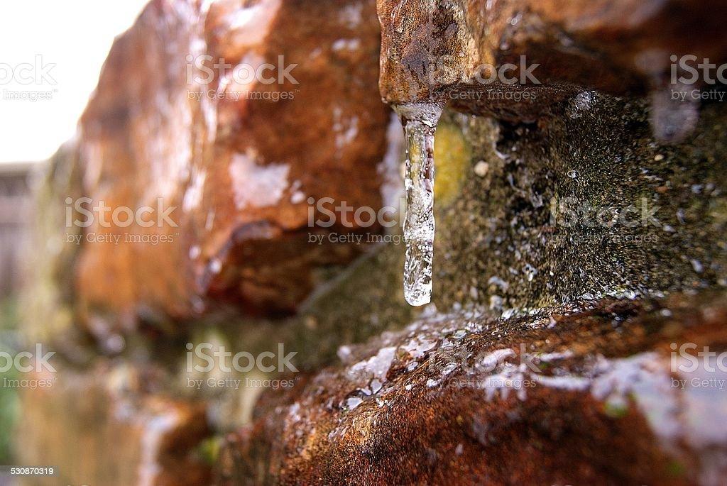 Rocky Freezed Drips royalty-free stock photo
