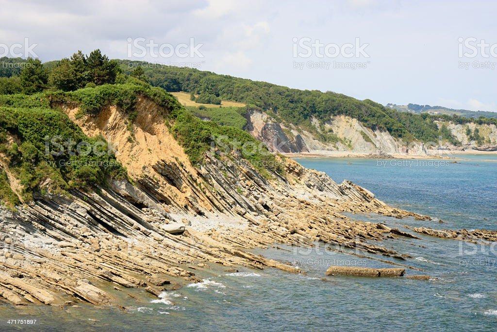 Rocky french shore stock photo