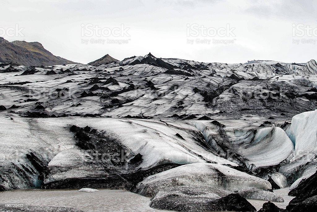 Rocky glacier landscape royalty-free stock photo