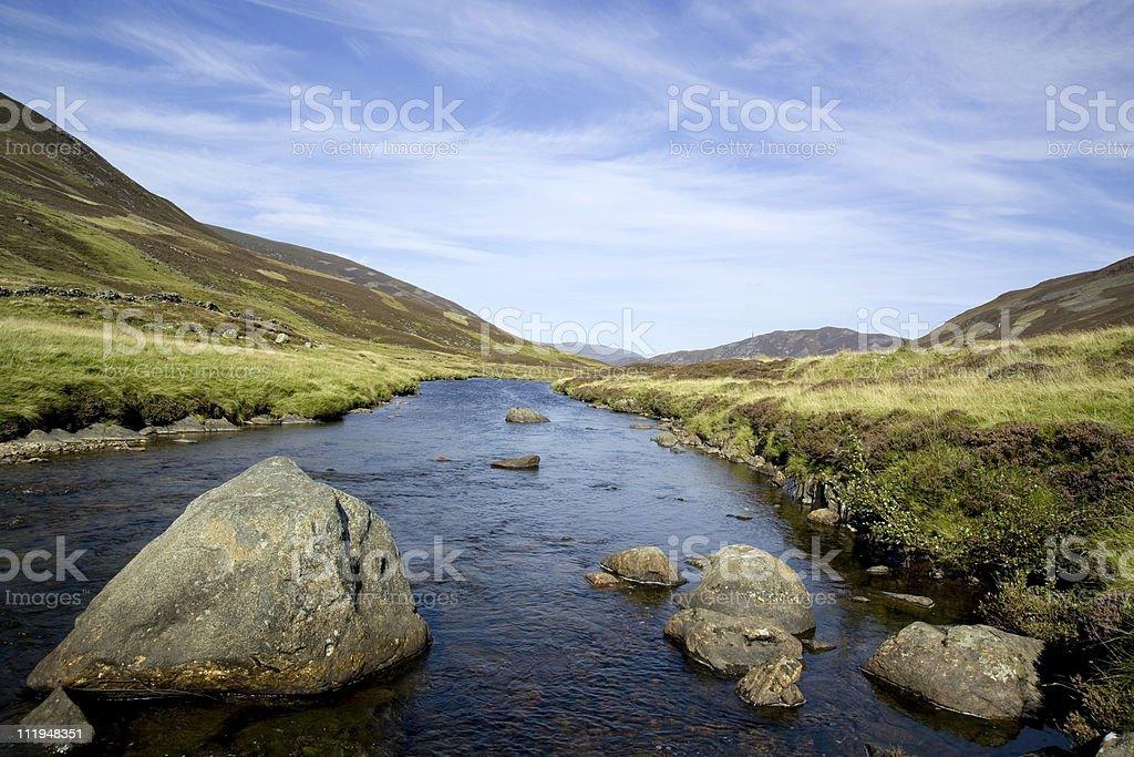 Rocky highland river royalty-free stock photo