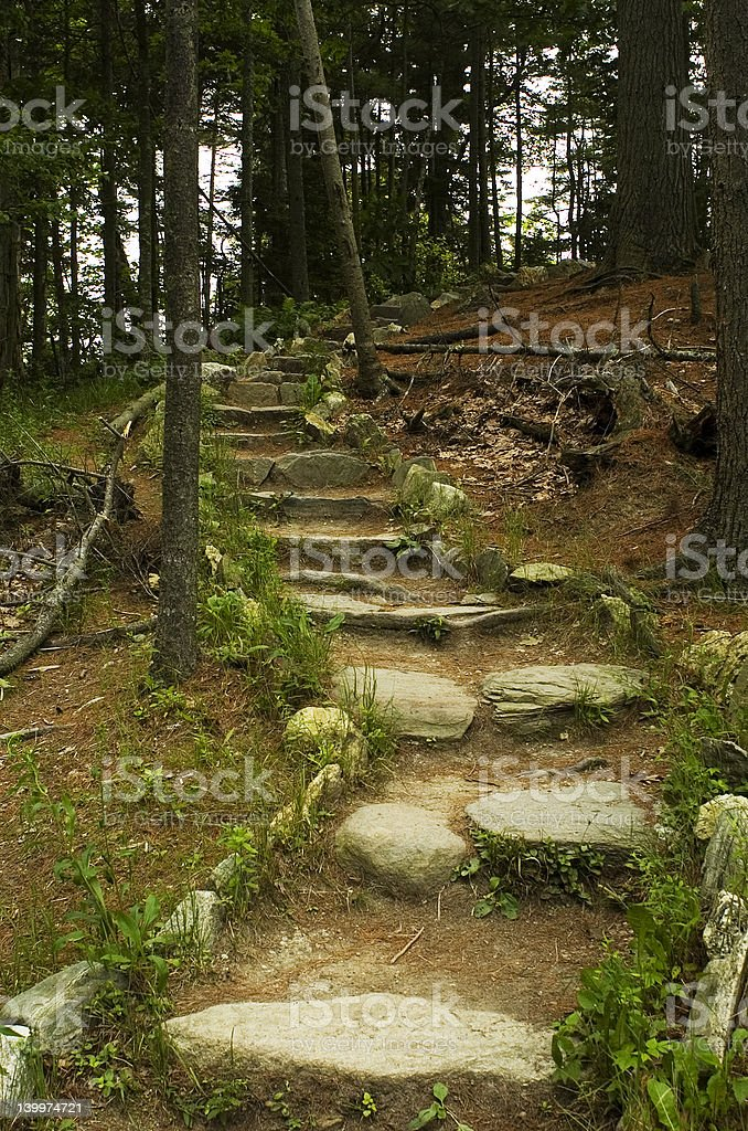 Rocky Hiking Path royalty-free stock photo