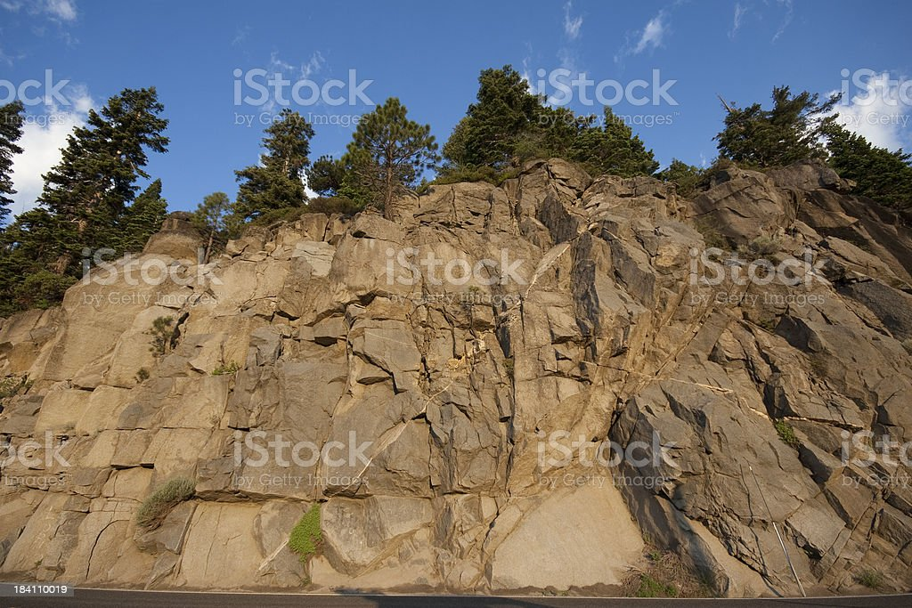 Rocky hill stock photo