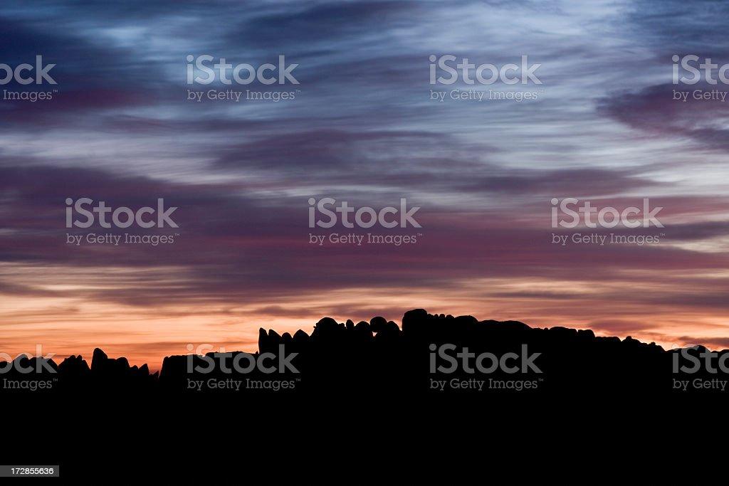 rocky horizon royalty-free stock photo