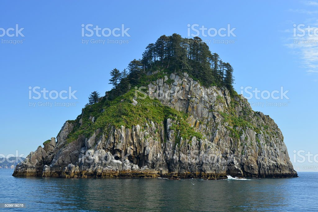 Rocky Island, Kenai Fjords, Alaska stock photo