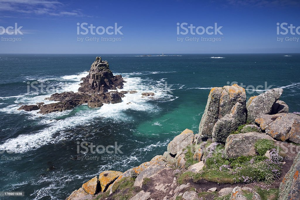 Rocky Isles Off Land's End stock photo