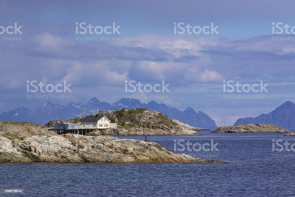 Rocky islets in Norway royalty-free stock photo