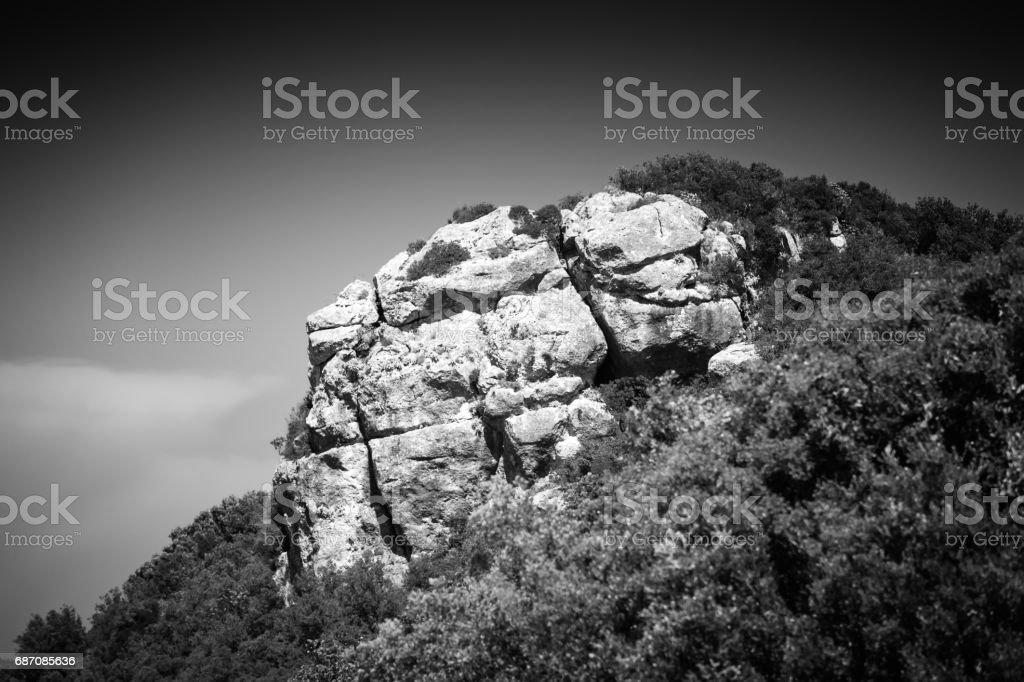 Rocky landscape, Corfu Island, Greece stock photo