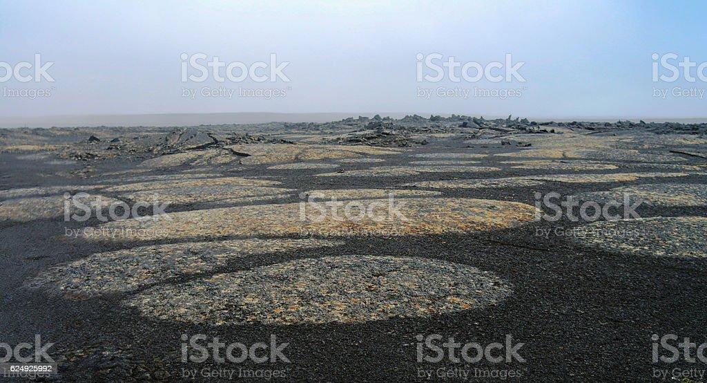 Rocky landscape Middle of Nowhere, Sprengisandur Iceland stock photo