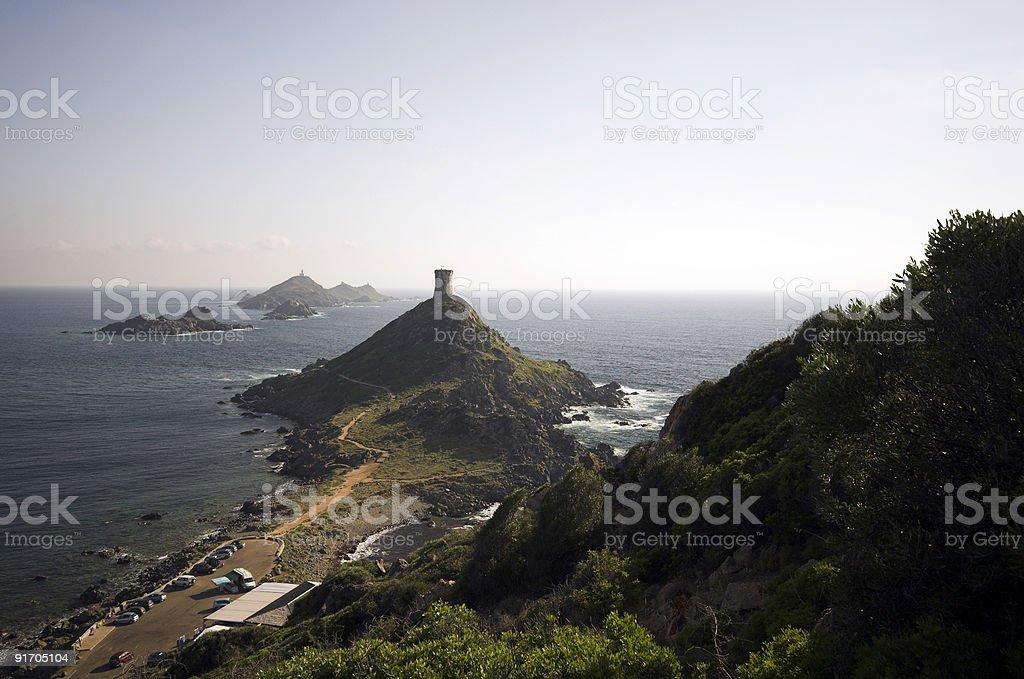 Rocky Mediterranean coastline stock photo
