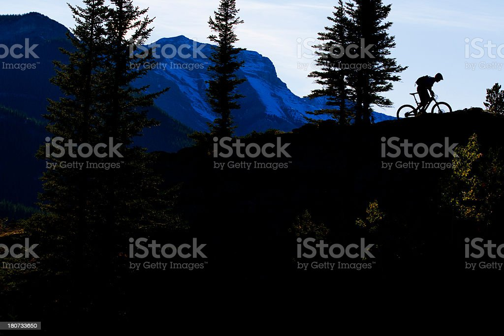 Rocky Mountain Bike Ride stock photo