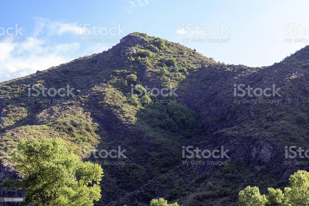 Rocky mountain bright sunny day stock photo