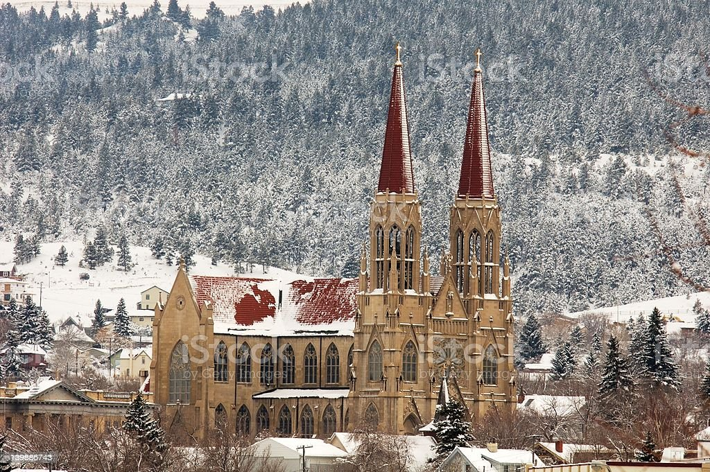 Rocky Mountain Cathedral royalty-free stock photo